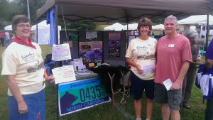 Friends tabling at Mountain Heritage Day on the campus of Western Carolina University