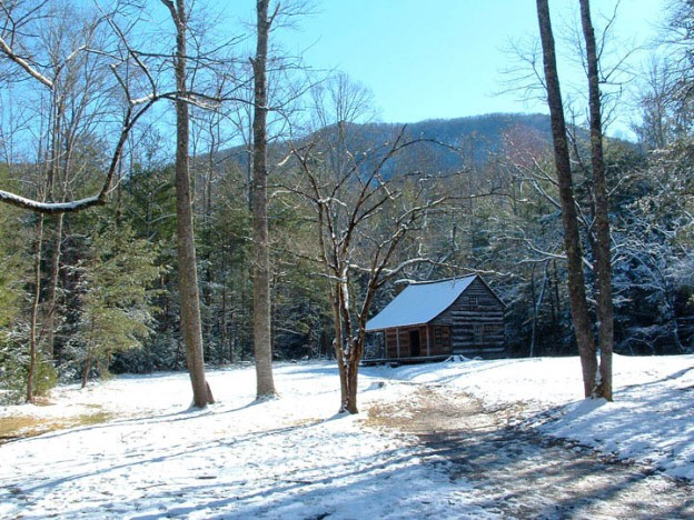 Carter Shields Cabin - Cades Cove, Great Smoky Mountains National Park. Photo by Julie Dodd