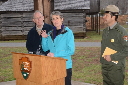 Secretary Sally Jewell in Great Smoky Mountains