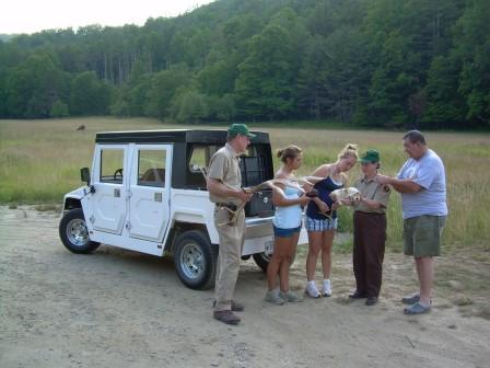 Elk Bugle Corps Volunteer Members in Cataloochee Valley