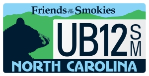 Friends of the Smokies North Carolina Plate